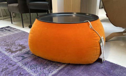 Fat Fat Oranje Poef/ Tafeltje