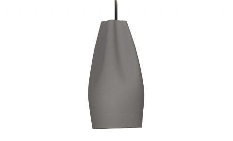 """Marset hanglamp """"pleat box"""" grijs binnenkant goud/koper"""