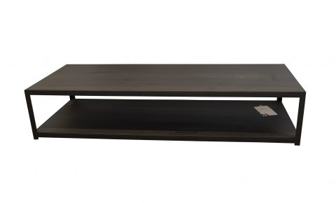 "Salon tafel van Rossum ""two"" massief eiken black"