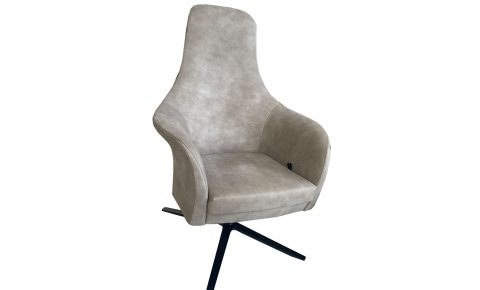 "Montis fauteuil ""Marvin"" in grijs/taupe leder"
